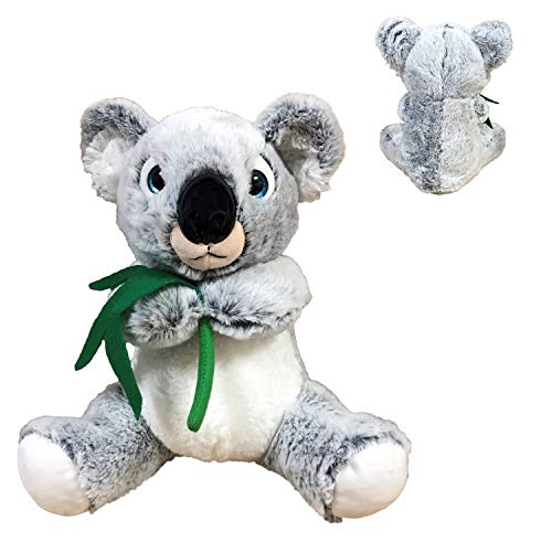 """BARRADO - Peluche Koala Gris Claro - Calidad Super Soft (Ojos Azules, 11""""/28cm)"""