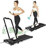 2-in-1 Treadmill,Under Desk Folding Treadmills for Home, Mini Walking Treadmill 2.0HP Power 7.45 MPH Max Speed, Bluetooth Speaker, APP Control,12 Program Cardio Running Machine