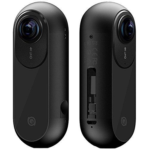 Insta360 One Action Camera 360°, Video 4K, Foto a 24 Mp, Utilizzo in Modo Autonomo o Connessa a Un iPhone, Freecapture, Smarttrack e Bullet-Time, Nero