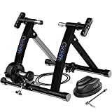 Cycleinn 8 Level Magnetic Resistance Bike Trainer Stand for Indoor Exercise Riding, Noise Reduction Wheel, Stationary Bike Resistance Trainer for 26'-28', 700C Wheels, Black (CI-MT001)