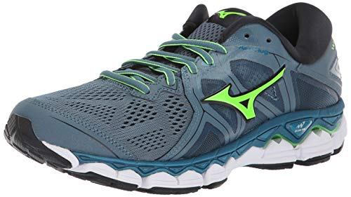 Mizuno Men's Wave Sky 2 Running Shoe, Blue Mirange/Evening Blue, 9.5 D US