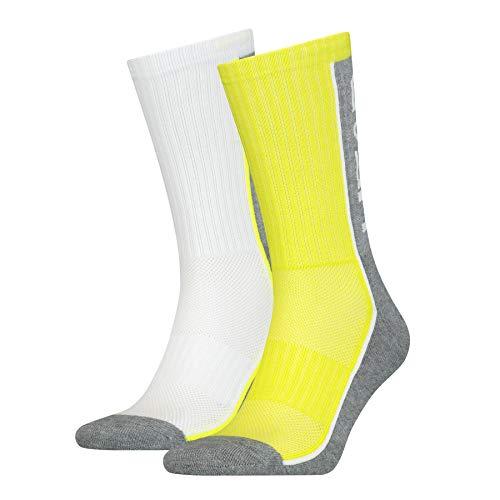 Head Performance Quarter Socks (2 Pack) Calzini, Lime, 39/42 Unisex-Adulto