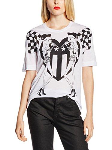 Love Moschino T-Shirt Manica Corta Bianco IT 40
