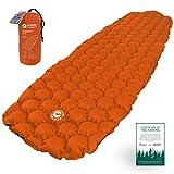 ECOTEK Outdoors Matelas Hybern8 ultraléger Gonflable randonnée Camping - Design FlexCell - Parfait pour hamacs et Sacs de Couchage (Orange de Feu)