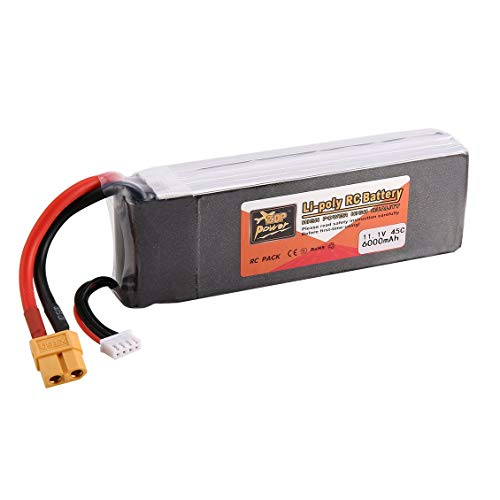 ForceSthrength ZOP Power 6000mAh 11.1V 45C 3S 1P Lipo Battery XT60 Plug for RC Drone Car Boat