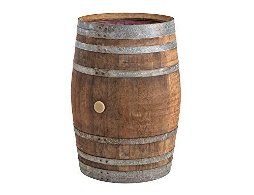 Temesso Regentonne, Regenfass Holzfass, Weinfass, Tonne Barrique Eiche 225 Liter Wasserfass - original Fass