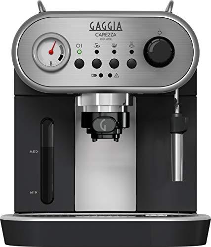 Gaggia RI8525/01 Carezza Deluxe Macchina da Caffè Espresso Manuale, per Macinato e Cialde,...