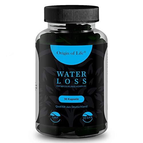 WATER LOSS - Entwässerungs-Komplex - 90 hochdosierte & vegane Entwässerungstabletten -100{c654ad1ff89afe898d675b4df0050159389aa14c80695cfe7e0eae7cd0d78846} natürliches Diuretika - Brennnessel - Grüner Tee - Löwenzahn - Kalium - Laborgeprüft - Made in Germany