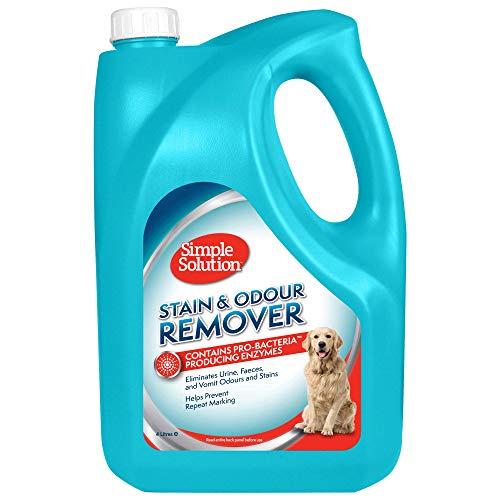 Simple Solution quitamanchas y olores para Perros, 4Ltr