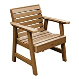 Highwood AD-CHGW1-TFE Weatherly Garden Chair, Toffee