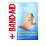 Band Aid Brand First Aid Products Water Block Sterile Non-Stick Waterproof Wound Care Pads for Minor Cut and...