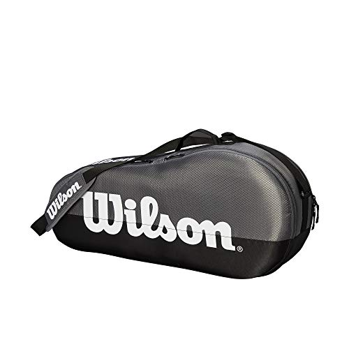 Wilson Team 1 Compartment Tennis Bag, Grey/Black
