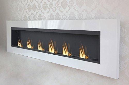 Druline 6 Burner Luxury Chimney Bio Ethanol Gel Fireplace Wall Fireplace Cheminee White High Gloss