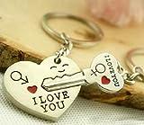 Unbekannt Clé pour Le Coeur I Love You Porte-clés Porte-clés pour Couples / Amoureux