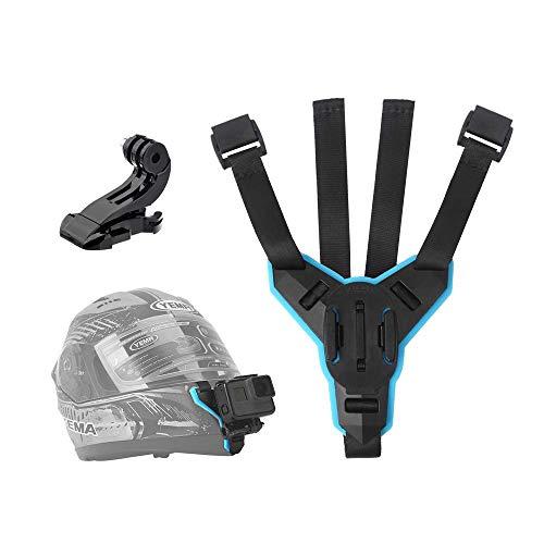 Telesin Helmet chin strap Mount, casco moto per GoPro Hero (2018) Hero 6Hero 5Black Hero 4eroe sessione LCD Fusion, 360, fotocamera, Akaso campark-occhiali, Polaroid, Yi Lite, Apeman accessori della fotocamera