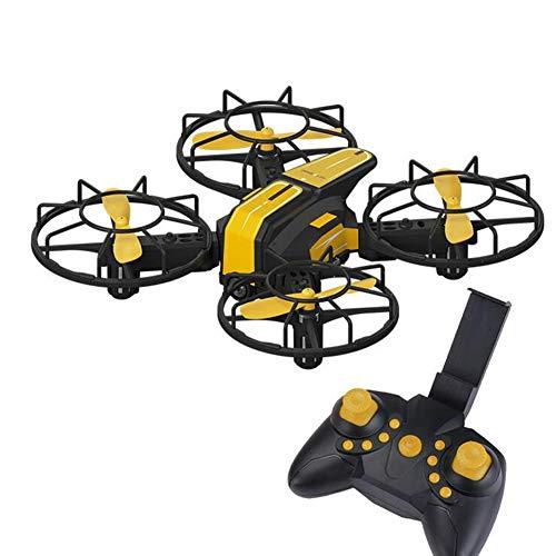 YLEI Mini RC Drone per Bambini, Quadcopter con Fotocamera HD, Funzione di Un Pulsante di Decollo/Atterraggio, Facile da Controllare, per Principianti e Adulti,Giallo