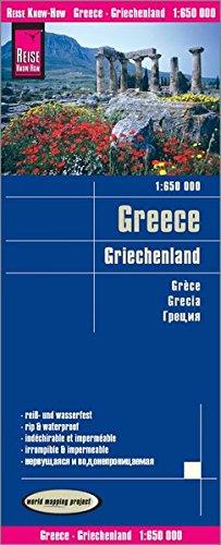 Grecia, mapa impermeable de carreteras. Escala 1:650.000 impermeable. Reise Know-How.: Kartenbild 2s