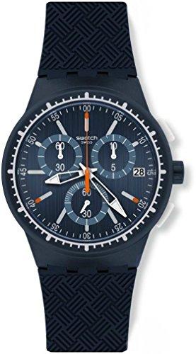 Swatch Herrenuhr Chronograph Quarz mit Silikonarmband – SUSN410