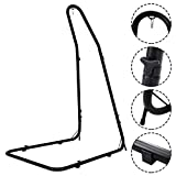 HAPPYGRILL Hammock Stand, Adjustable Height 78.5' to 98.5' Hammock Stand for Hammock Air Porch Swing Chair