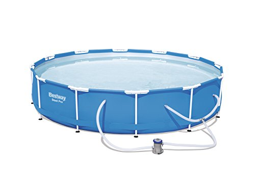 Bestway 56680 Steel Pro, 12ft x 30in, Above Ground Round Frame Pool Set | for Kids & Adults