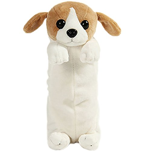 BIGBOBA - Cute e Creativo Astuccio Cassa di Matita, Forma di cane Borsa di Penna Grande Capacit Regalo per ragazza,23cm