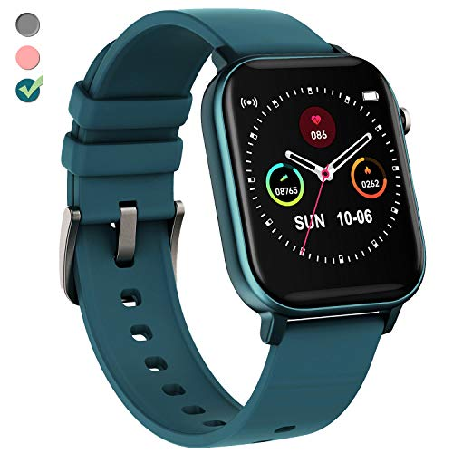 TURNMEON Smart Watch Fitness Tracker for Men Women, Full Touch Color Screen Waterproof Activity Tracker with Heart Rate Blood Pressure Blood Oxygen Monitor for Android Phones