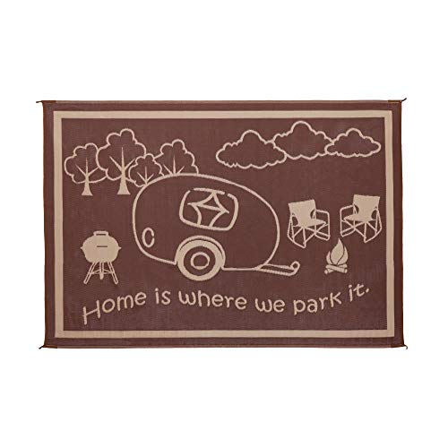 Stylish Camping Ming's Mark RH8117 Reversible RV Home Mat - 8' x...