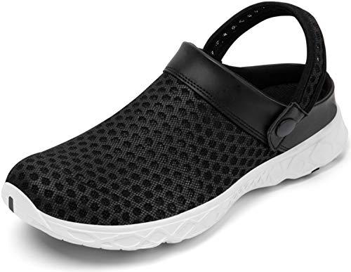 SAGUARO Mujer Zuecos y Mules Hombre Zapatillas de Playa Respirable Sandalias Comodas Zapatos de Verano Zapatos de Jardín Antideslizante Chancletas Secado Rápido Negro Zuecos 36