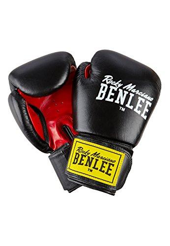 Ben Lee Rocky Marciano Fighter - Guante de Boxeo (Cuero) Negro Negro Talla:10 oz