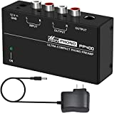 Phono Turntable Preamp - Mini Electronic Audio Stereo Phonograph...