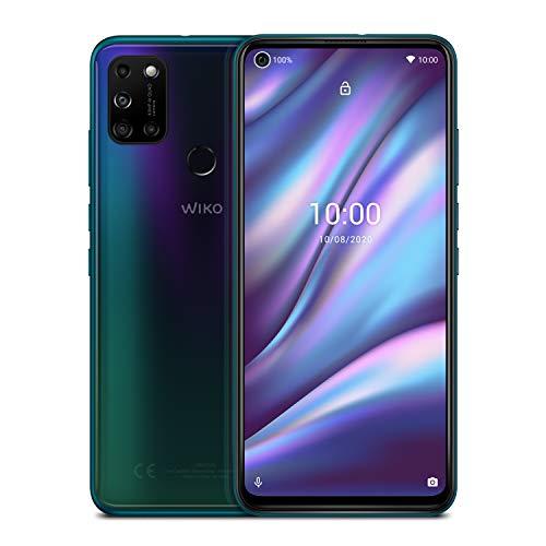 "WIKO View5 Plus - Smartphone de 6,55"" HD+ IPS (5000mAh de batería para 1 Semana de Uso con 2 Cargas, Cámara cuádruple 48MP, 128GB ROM, 4GB RAM, Octa Core) Aurora Blue"