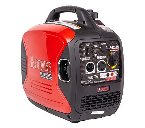 A-iPower SUA2000iV 2000 Watt Portable Inverter Generator Gas...