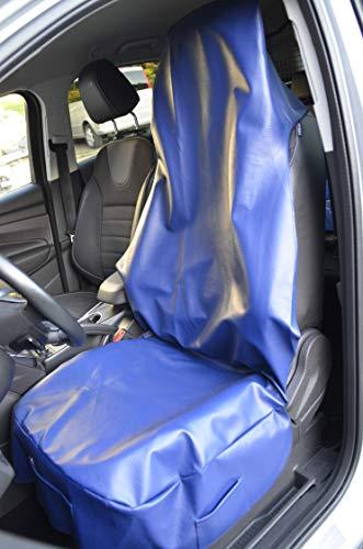 pitshop24 Werkstattschonbezug Werkstattschoner Sitzbezug Kunstleder in dunkel Blau