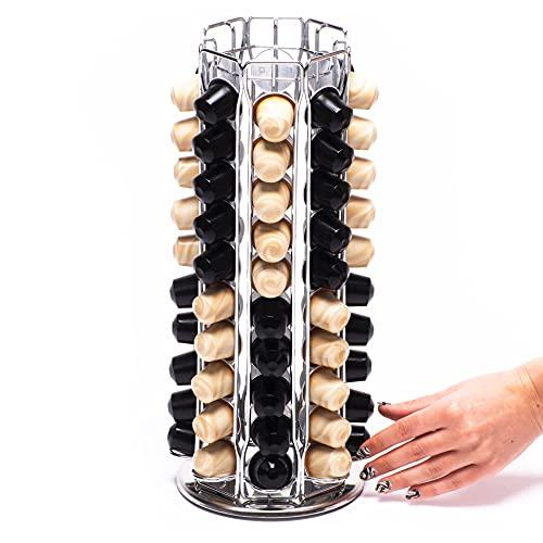 Peak Coffee Porta capsula girevole compatibile per 80 capsula Nespresso