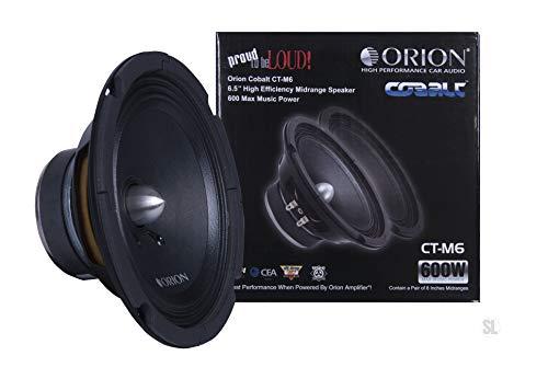 Orion Cobalt Series CT-M6 6.5' 600 Watts Max High Efficiency 4-Ohm Midrange Speakers - Pair