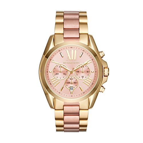 Michael Kors Damen Chronograph Quarz Uhr mit Edelstahl Armband MK6359