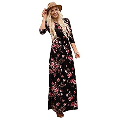 *Round neck, long sleeve, o-neck, floral print, swing maxi dress *Family matching dress, great for special events, family gatherings, church, holidays, etc. *Matching dresses are great for more than just Mom and Daughter! *Made of soft comfy material...