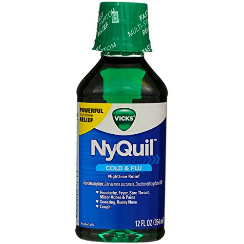 Vicks NyQuil Cold & Flu Nighttime Relief 12 oz (Pack of 6)