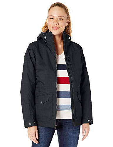 41nDJGjcaML COMFORTABLE WINTER JACKET: The Columbia Women's Mount Erie Interchange Winter Jacket is the perfect multiple-use winter coat. The zip-in interchange system is easy to configure for different winter weather conditions on the fly. CLASSIC THREE-IN-ONE DESIGN: This women's fall and winter coat system is the classic 3-in-1 solution. It features a waterproof outer shell and an inner fleece layer that can be worn separately or together for maximum protection. WATERPROOF OUTER COAT: Made with advanced fabrics and materials, this versatile jacket will keep you incredibly comfortable and dry across a wide range of climates.