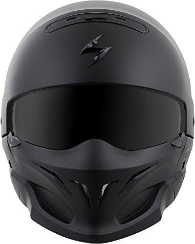 ScorpionExo Covert Unisex-Adult Half-Size-Style Matte Black Helmet (Matte Black, Large) (COV-0105)