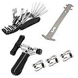 Kit d'outils de réparation de vélo, kit d'outils de chaîne de...