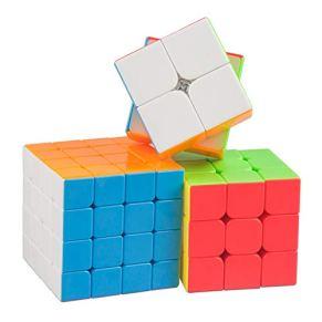 HXGL-Cubos Mágicos Rompecabezas del Cubo 3D Conjunto Cubo De La Velocidad Bundle 2x2x2 3x3x3 4x4x4 Cubo Conjunto…