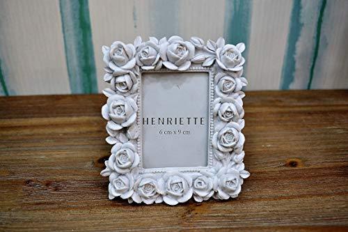 Henriette Cornice PORTAFOTO Bouquet Bianco 12X14 (Interno Foto 6X9) Collezione OSTUNI D15098