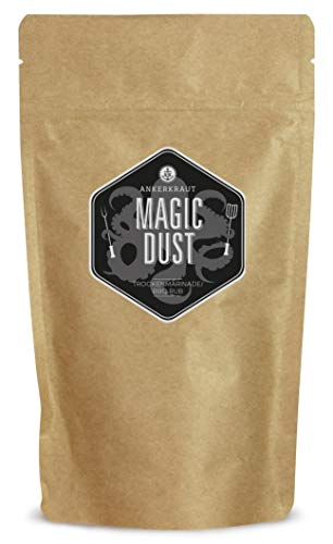 Ankerkraut Magic Dust, BBQ-Rub, Marinade für Fleisch, Gewürzmischung zum Grillen, 250g im aromadichten Beutel zum Nachfüllen