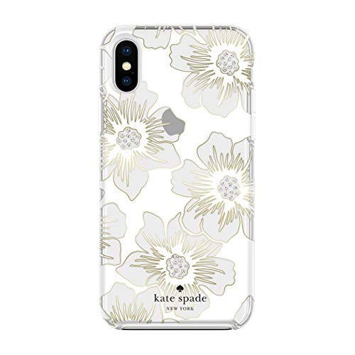 kate spade new york Reverse Hollyhock Case for iPhone X/XS - Defensive Hardshell with White Bumper