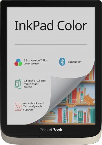 PocketBook InkPad Color - Lector de Libros electrónicos (16 GB de Memoria, 19,8 cm (7,8 Pulgadas), Pantalla a Color, iluminación Frontal, Wi-Fi, Bluetooth), Color Plateado