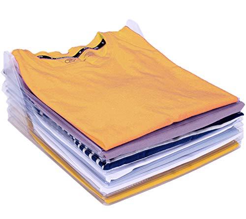 Nifogo Organizer per Armadio,Organizzatore di Armadi,Pieghevole Abbigliamento Board,Closet Organizer Camicia Cartella - 2 in 1 Cartella T-Shirt + Cartella di File (60 Pack)