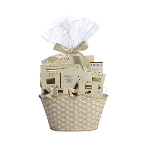 Godiva Chocolatier Gift Basket -Chocolate Assortment For 2019 Christmas Holiday Season - Improved Product Protective Packaging, Damage Free Guarantee