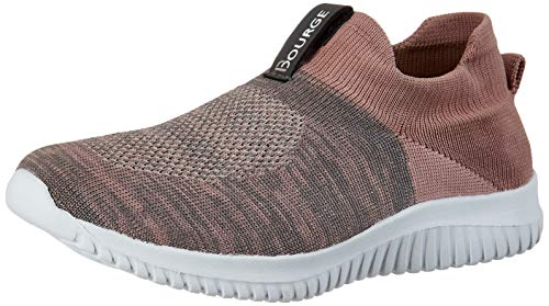 Bourge Women's Micam-109 L.Pink and Grey Walking Shoes-6 UK (38 EU) (7 US) (Micam-109-06)