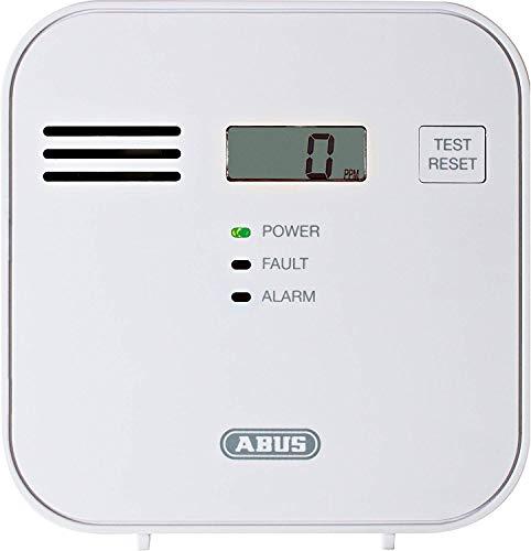 ABUS  Kohlenmonoxid-Warnmelder COWM300 CO-Melder   LCD-Display inkl. CO-Konzentration   7 Jahre Sensor   Prüftaste   bis 60 m²   weiß   37241